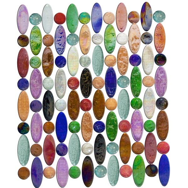 Signature Line Love Beads Glass Mosaic Tile by Susan Jablon