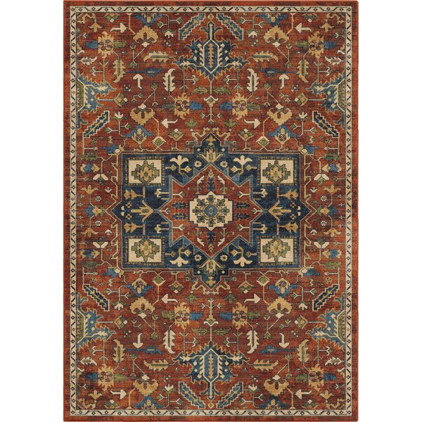 Ponce Antique Merekan Red/Blue Area Rug by Bloomsbury Market