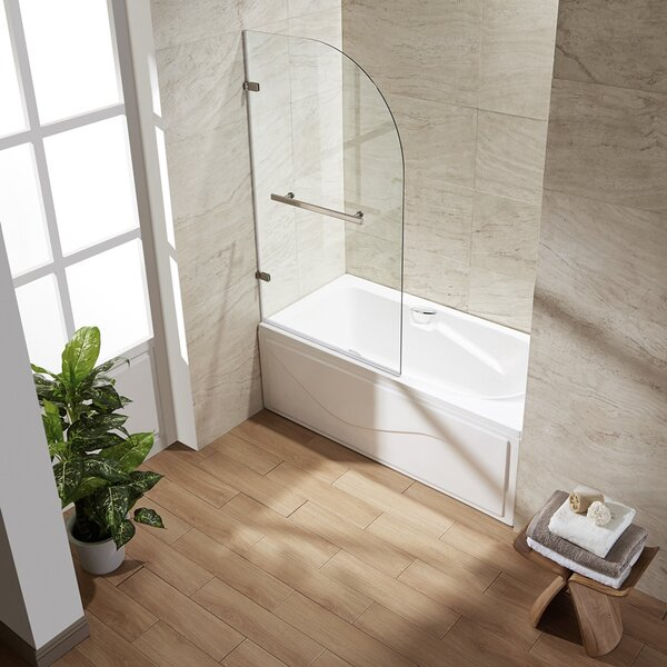 Orion 34 x 58 Hinged Curved Bathtub Door by VIGO