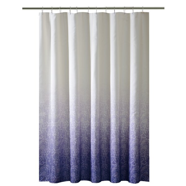 Lace Printed Ombre Shower Curtain by Bath Bliss