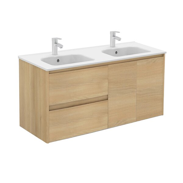 Ambra 48 Wall Mounted Double Bathroom Vanity Set by WS Bath Collections