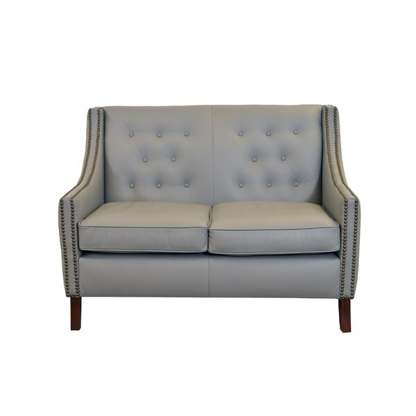 Check Price Woburn Leather Loveseat