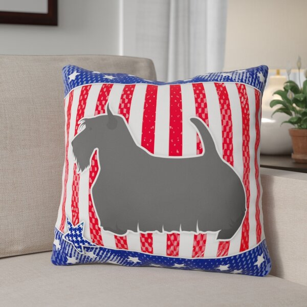 Patriotic Contemporary Fabric Indoor/Outdoor Throw Pillow by The Holiday Aisle