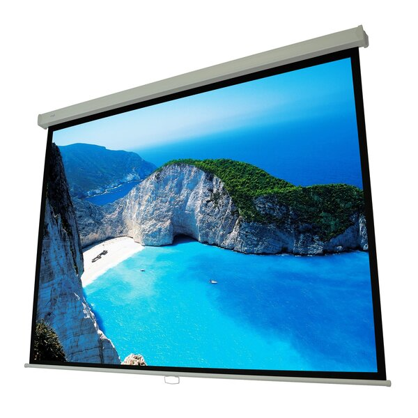 Cinema White Manual Projection Screen by Elunevision