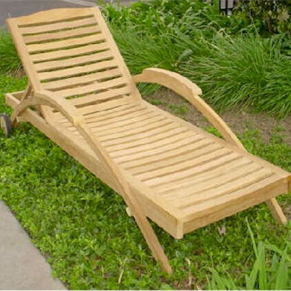 Innova Reclining Teak Chaise Lounge by Anderson Teak