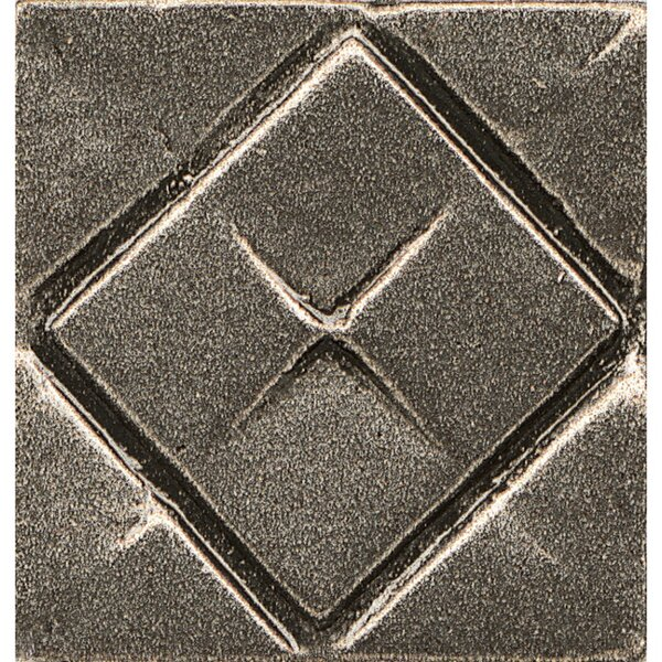 Ambiance Insert Matrix City 1 x 1 Resin Tile in Brushed Nickel by Bedrosians