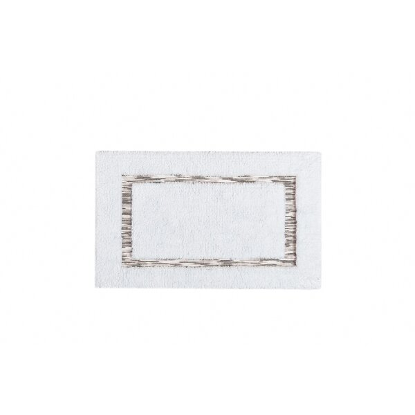 Driskill Rectangle 100% Cotton Non-Slip Bath Rug