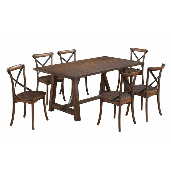 Aguon 7 Piece Dining Set by Three Posts