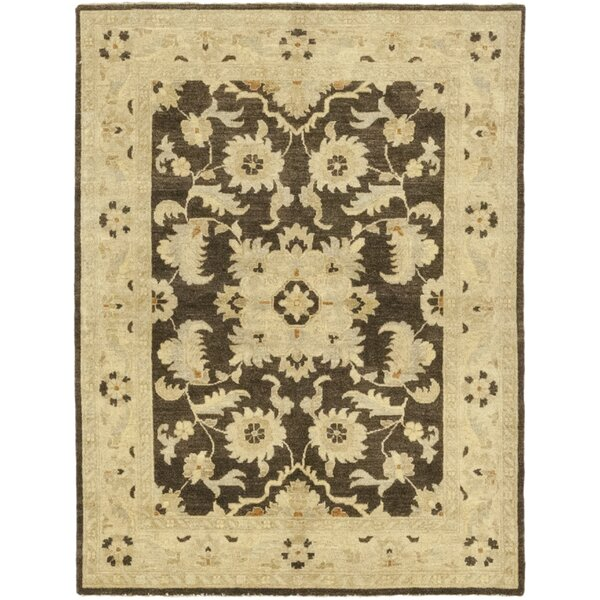 One-of-a-Kind Devan Hand-Knotted Wool Brown/Beige Indoor Area Rug by Isabelline