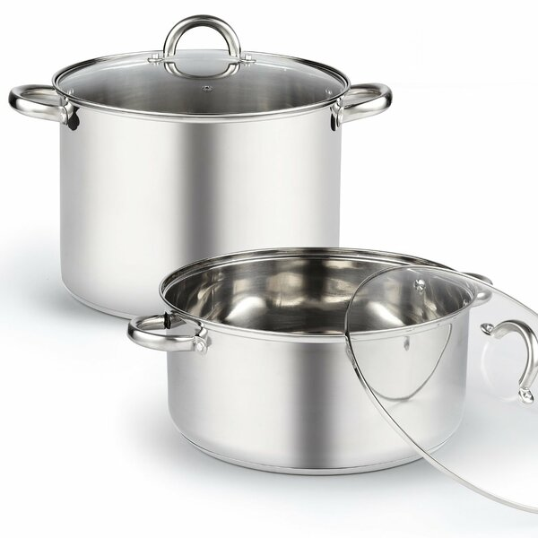2 Piece 13-qt. Stockpot Set with Lids by Cook N Home