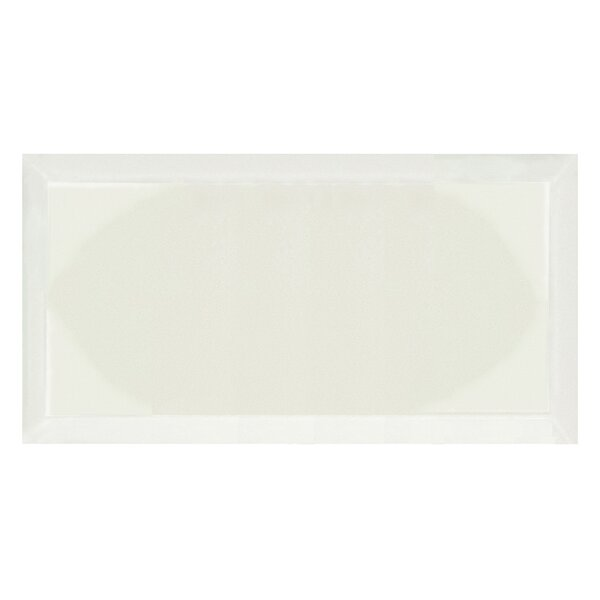 Frosted Elegance 8 x 16 Glass Tile in Glossy Creme by Abolos