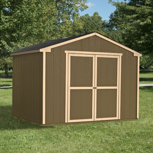 Marco Series 10 ft. 7 in. W x 8 ft. D Wood Storage Shed by Handy Home