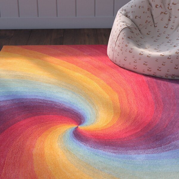 Natalie Hand Tufted Wool Tranquility Area Rug by Zoomie Kids