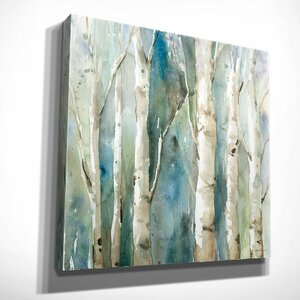 'River Birch I' by Carol Robinson Painting Print on Wrapped Canvas by Wexford Home