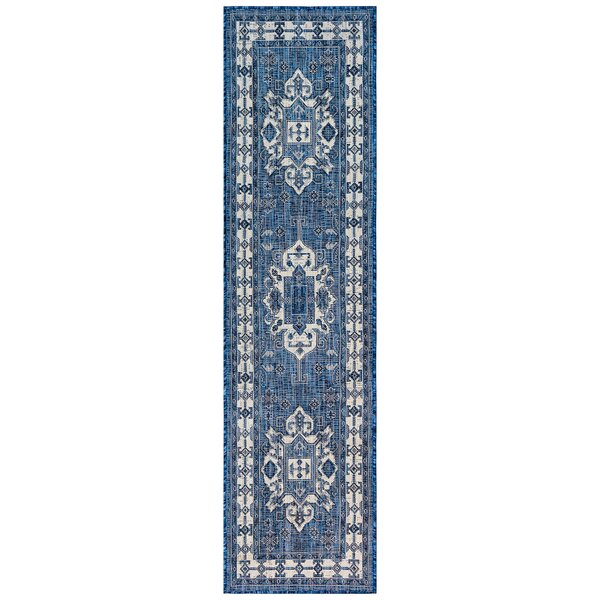 Arverne Navy Indoor/Outdoor Area Rug by Charlton Home