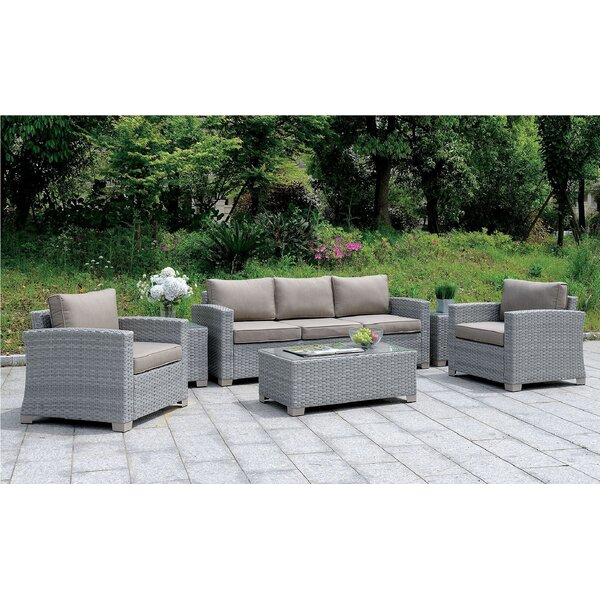 Aydin 6 Piece Rattan Sofa Seating Group with Cushions by Brayden Studio