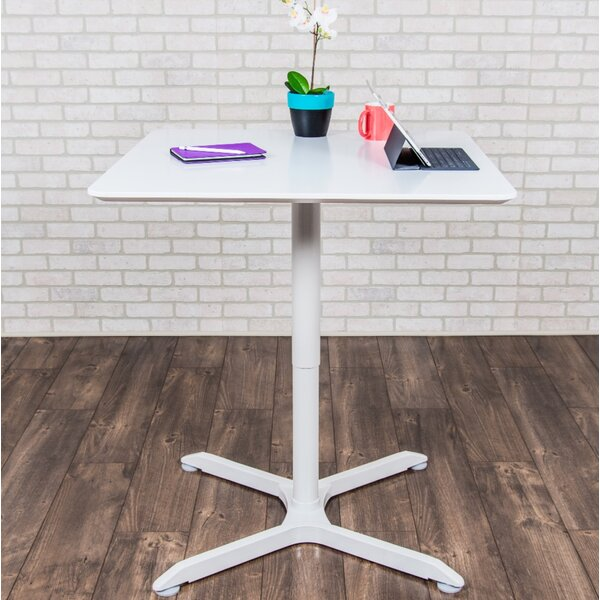 Square Adjustable Height Cafe Table by Luxor