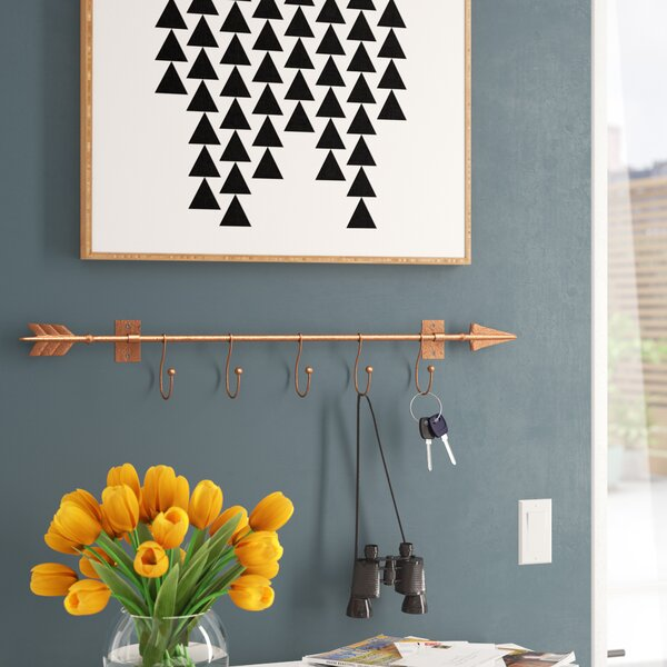 Dority Wall Mount Arrow with Hooks by Mercury Row
