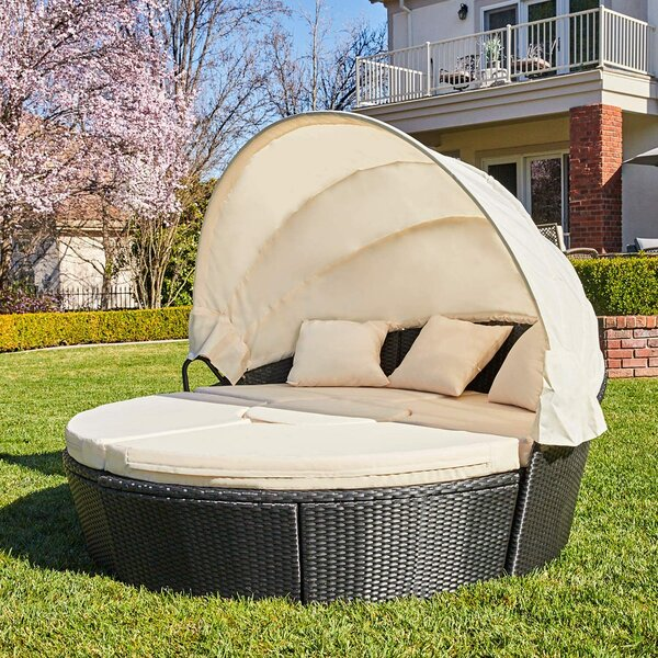 Schulz Patio Daybed With Cushions By Bayou Breeze by Bayou Breeze Looking for