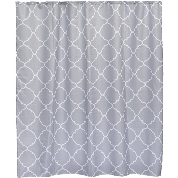 Carthage Printed Fabric Shower Curtain by Evideco