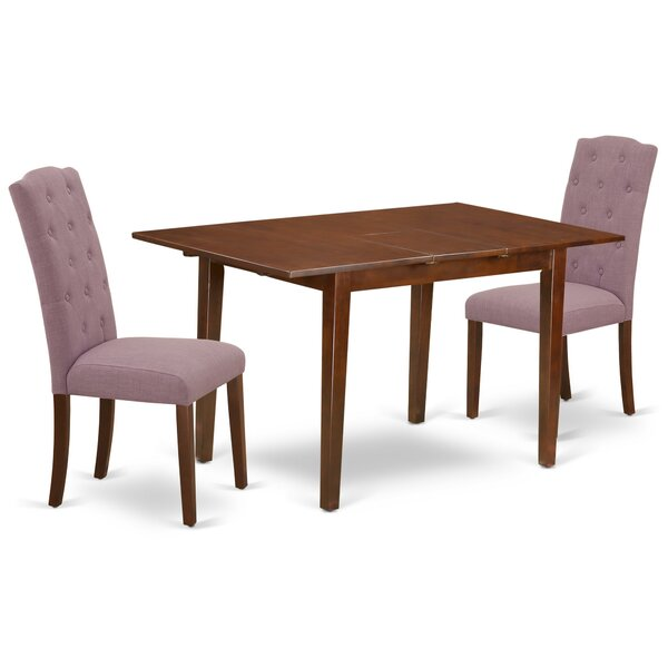 Normandin 3 Piece Extendable Solid Wood Dining Set by Winston Porter Winston Porter