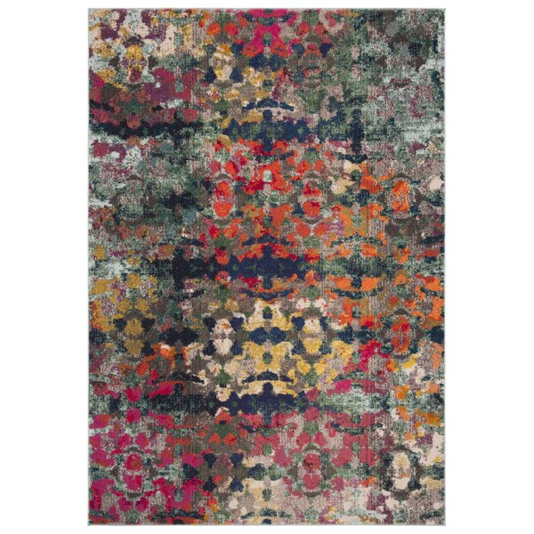 Arianna Green/Blue Area Rug by Bungalow Rose