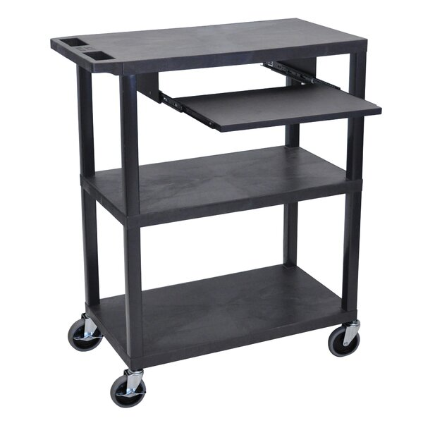 Presentation AV Cart with Pullout Shelf by Luxor