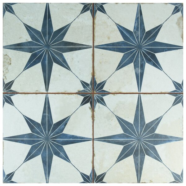 Royalty Galactic 17.63 x 17.63 Ceramic Field Tile in Blue by EliteTile
