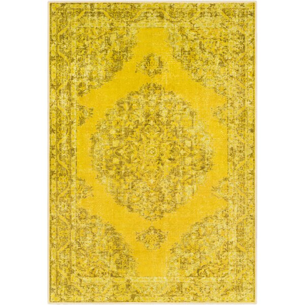 Ryhill Lime/Yellow Area Rug by Bungalow Rose
