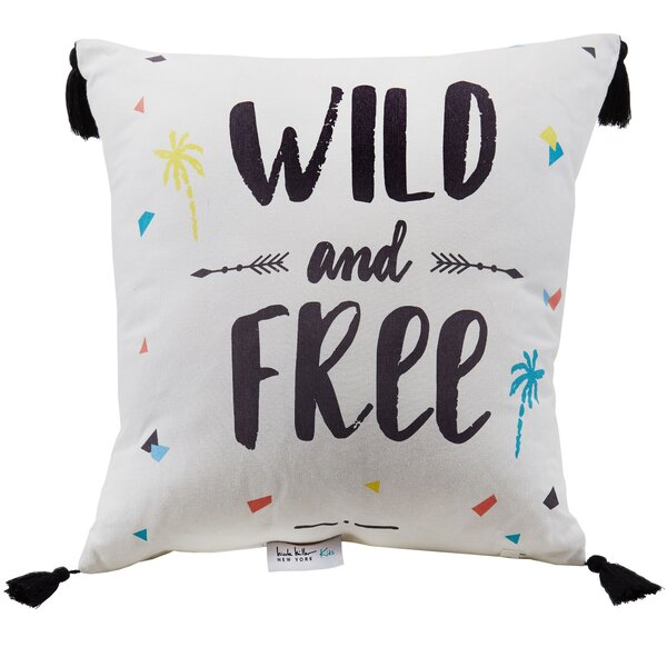 Wild and Free Metallic Tassel Throw Pillow by Nicole Miller