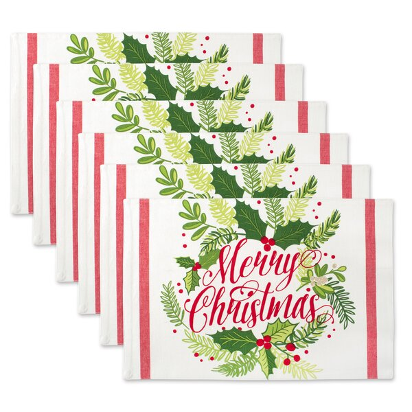 Mccardle Merry Christmas Print Kitchen 19 Placemat (Set of 6) by The Holiday Aisle