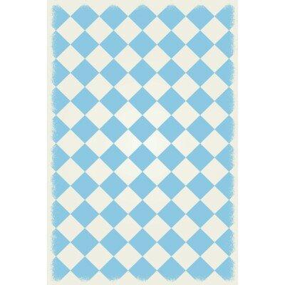Welton Diamond European Design Light Blue/White Indoor/Outdoor Area Rug by Winston Porter