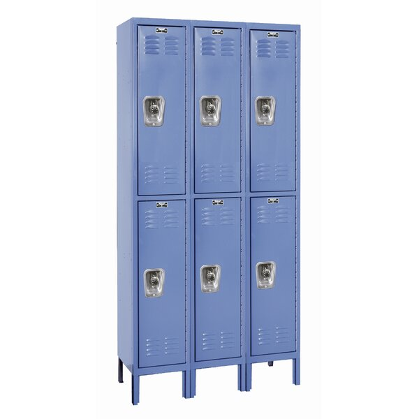 ReadyBuilt 2 Tier 3 Wide School Locker by Hallowell