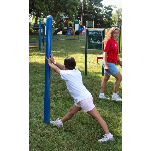 Leg Stretches Post and Sign by Kidstuff Playsystems, Inc.