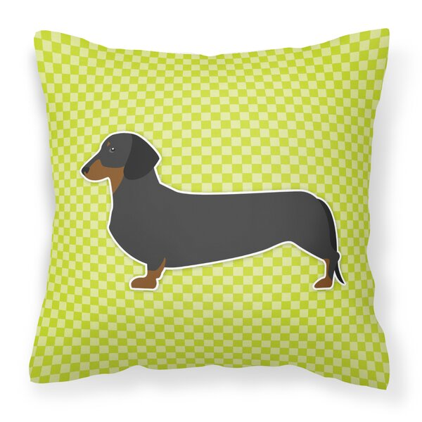 Dachshund Square Indoor/Outdoor Throw Pillow by East Urban Home