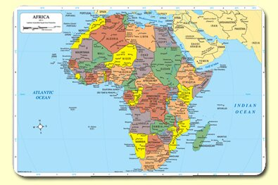 Africa Placemat (Set of 4) by Painless Learning Placemats