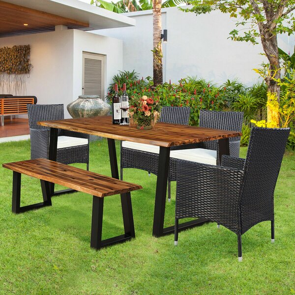 Serio 6 Piece Dining Set with Cushion by Foundry Select