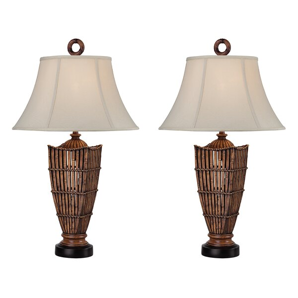 Reid Rattan 32 Table Lamp (Set of 2) by Bay Isle Home