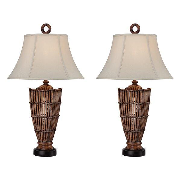 Reid Rattan 32 Table Lamp (Set of 2) by Bay Isle Home