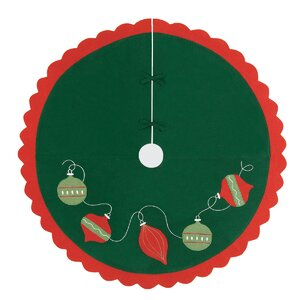 Ornaments Felt Christmas Tree Skirt