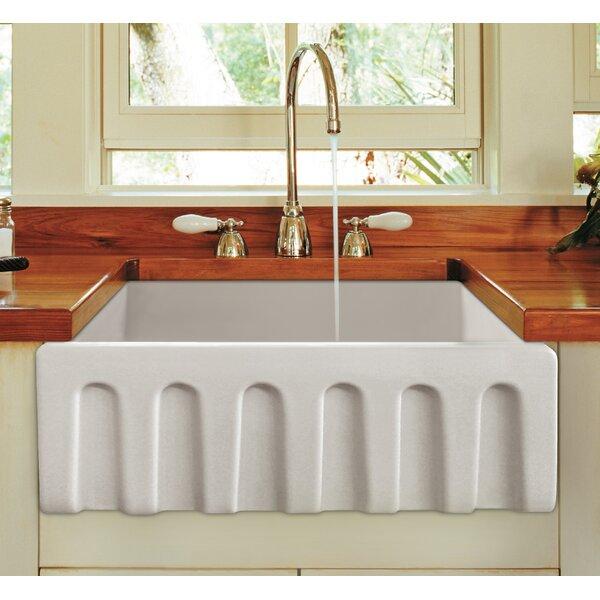 Reversible Single Bowl Fireclay Farm 24 L x 10 W Farmhouse Kitchen Sink by Alfi Brand