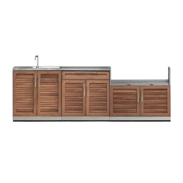 Outdoor Kitchen Grove 4 Piece Bar Center Set by NewAge Products