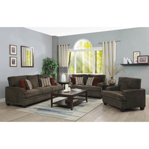 Carrillo 3 Piece Living Room Set by Alcott Hill
