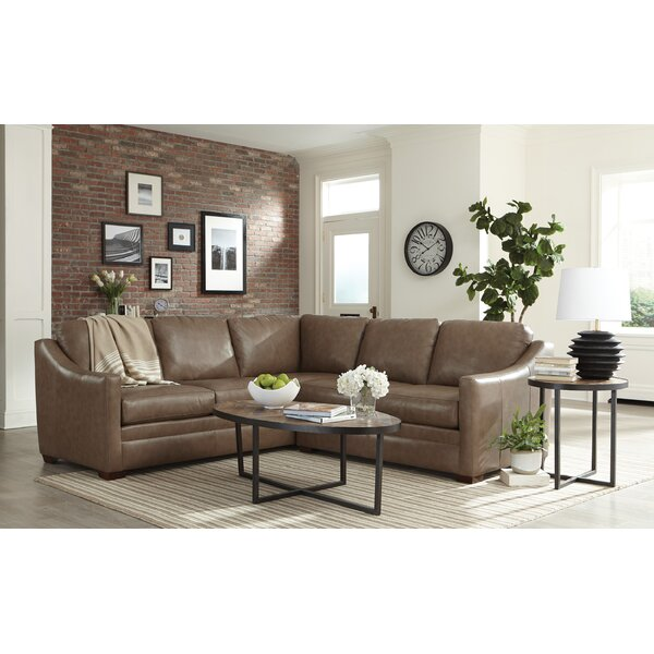 Heather Leather Left Hand Facing Sectional by Westland and Birch Westland and Birch