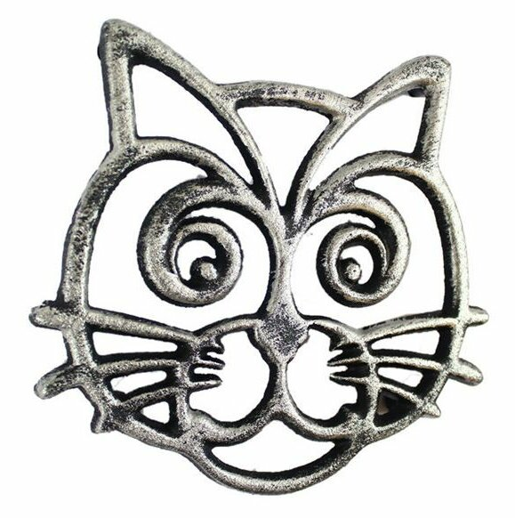 Cat Cast Iron Trivet by Winston Porter
