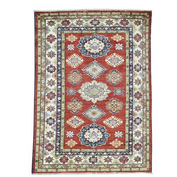 One-of-a-Kind Kempinski Overdyed Vintage Hand-Knotted Red/Blue Area Rug by Canora Grey