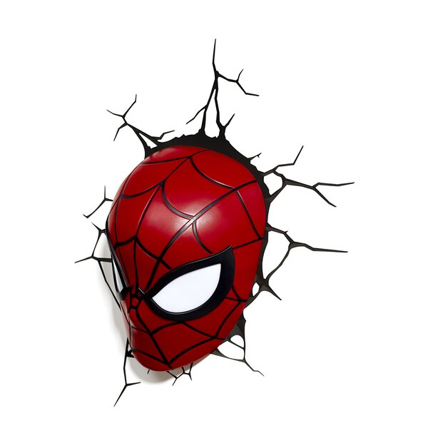 3D Spiderman Mask Deco 2-Light Night Light by 3D Light FX