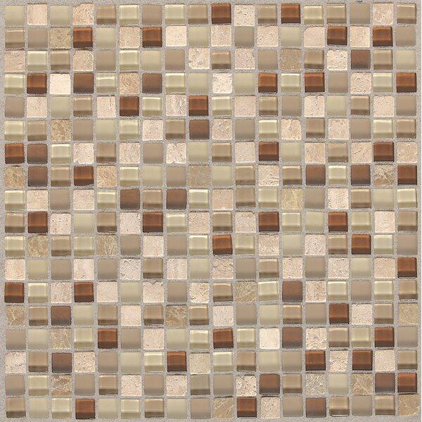 Treasure 12 x 12 Glass Gem Mosaic Tile in Caramel Splash by Mohawk Flooring