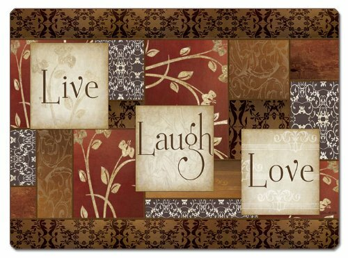 Spice of Life Live, Laugh, Love Hardboard Placemat (Set of 2) by CounterArt