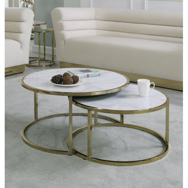 Jelissa 2 Piece Coffee Table Set by Everly Quinn Everly Quinn